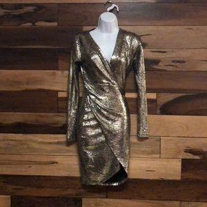 Dresses & Skirts - Metalic sexy mini dress